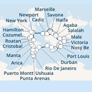 Ümbermaailmakruiis 2021 – 118 päevaga ümber maailma. 15 ekskursiooni tasuta!
